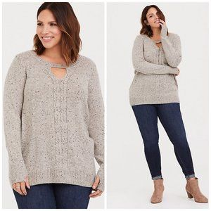 Torrid Cable Knit Tunic Sweater Sz 4